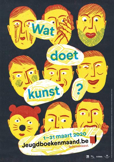 Van 1-31 maart is het Jeugdboekenmaand met als thema kunst.