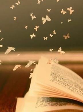 vlinders fladderen uit een boek